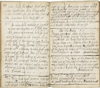 A book of very good medicines for several diseases wound and sores both new and old [manuscript], 1639
