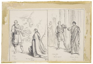 Scenes from Cymbeline at the Lyceum [graphic] / [Frederick Pegram].