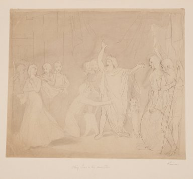 King Lear and his daughters [graphic] / [John Flaxman].