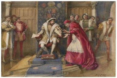 [King Henry VIII: III, 2, the fall of Cardinal Wolsey] [graphic] / Henry J. Haley.