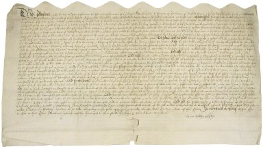 Bargain and sale from William Clopton to William Botte of Stratford, Gent. [manuscript], 1563 February 20.