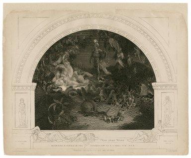 There sleeps Titania ... [Midsummer night's dream, act II, sc. 1] [graphic] / R. Huskisson pinx. ; Fred. Heath, sculp.
