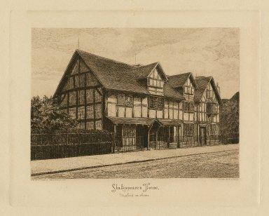 Shakespeare's house, Stratford-on-Avon [graphic] / W. Reid sc.