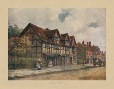 Shakespeare's birthplace [graphic] / Wm. W. Quatremain, 1910.