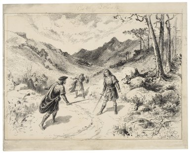 [Macbeth, V, Lyceum Theatre, January 15, 1889, Sir Henry Irving as Macbeth] [graphic] / J. Jellicoe ; Herbert Railton.