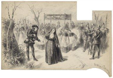 King Richard III, I, 2, the wooing of Lady Anne [graphic] / [Herbert Railton].