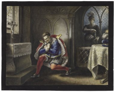 Hamlet, III, 3: Now might I do it pat, now he is praying [graphic] / [Johann Heinrich Ramberg].
