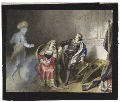 Hamlet, III, 4, Ghost, Queen, and Hamlet [graphic] / [Johann Heinrich Ramberg].