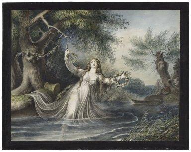Hamlet, IV, 7, Ophelia falling into the water [graphic] / [Johann Heinrich Ramberg].