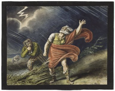 King Lear, III, 2, Another part of the heath, enter Lear and the fool [graphic] / [Johann Heinrich Ramberg].