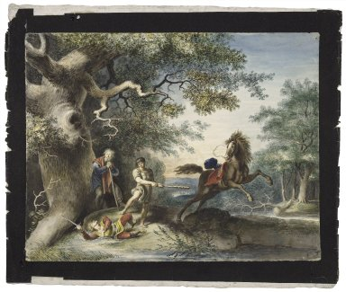 King Lear, IV, 6, Edgar killing Oswald [graphic] / [Johann Heinrich Ramberg].