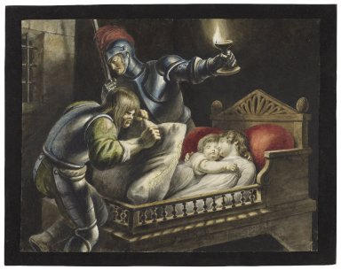 King Richard, IV, 3, murder of the princes in the tower [graphic] / [Johann Heinrich Ramberg].