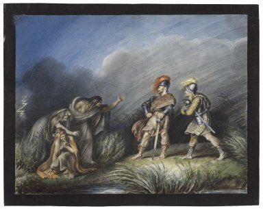 Macbeth, I, 3, Macbeth & Banquo on the heath [graphic] / [Johann Heinrich Ramberg].