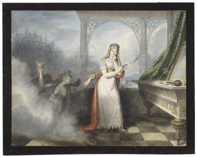 Macbeth, I, 5, Lady Macbeth with the letter [graphic] / [Johann Heinrich Ramberg].
