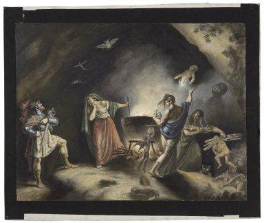 Macbeth, IV, 1, Macbeth in witches cave [graphic] / [Johann Heinrich Ramberg].