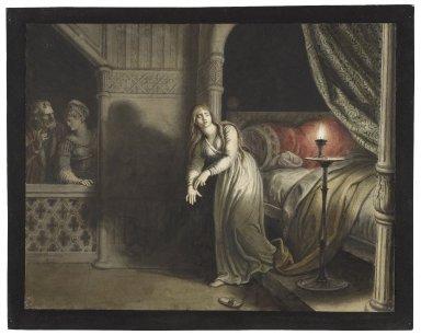 Macbeth, V, 1, sleepwalking scene, Lady Macbeth [graphic] / [Johann Heinrich Ramberg].