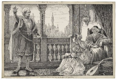 Othello, the Moor of Venice. Desdemona loved to hear him tell the story of his adventures [graphic] / Louis Rhead.
