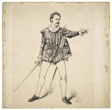 [Harry St. Maur as Mercutio] [graphic] / M. Stretch, Augt. 1876.