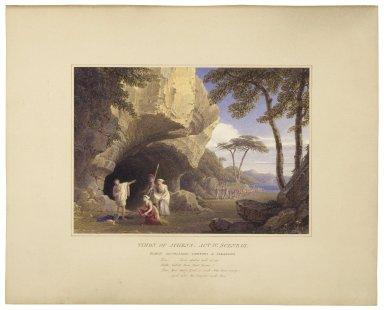 Timon of Athens, act IV, scene III, Timon, Alcibiades, Phrynia & Timandra [graphic] / [William Westall].