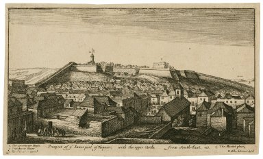 Prospect of [the] inner part of Tangier, with the upper castle, from south-east [graphic] / W. Hollar delineauit et scul.