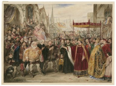 King Henry IV, pt. 2, V, 5, denouncement of Falstaff by the King [graphic].