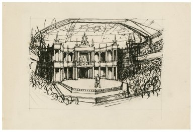 Sketch for a stage in the Mermaid theatre