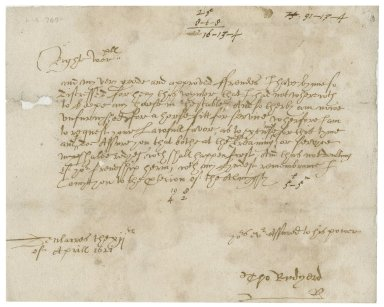 Letter from Thomas Rudyard, Dieulacres, to Walter Bagot?