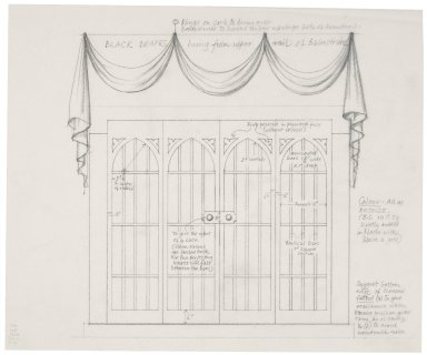 St. Georges Theatre, design for drapes and doors