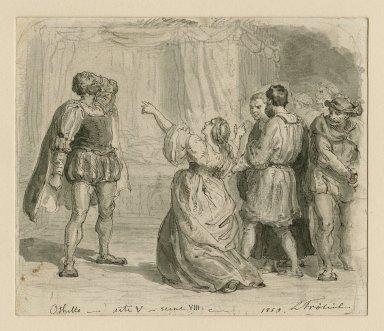 Othello and Desdemona [graphic] / L. Frølich.