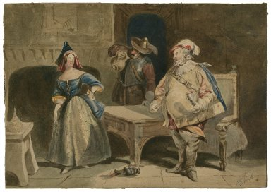 [King Henry IV, Pt. 1, II, 4. Falstaff, Bardolph, and Hostess] [graphic] / J. Nash.