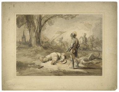 King Henry IV, pt. 1, V, 4, Falstaff feigning death [graphic].