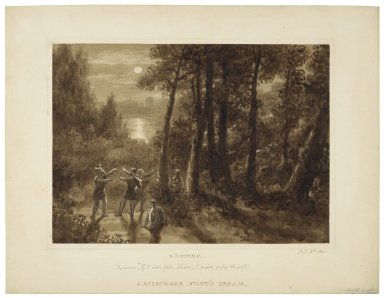 "A midsummer night's dream, Pyramus: ""If I were fair, Thisbe ..."" [III, 1] [graphic] / Samuel John Stump."