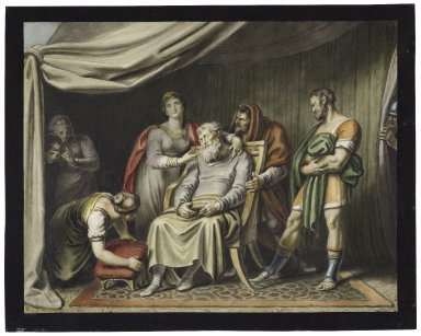 King Lear, IV, 7, a tent in the French camp [graphic] / [Johann Heinrich Ramberg].