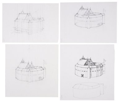 Exterior sketches of the Second Globe