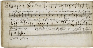 Tenor part book of works by British and Continental composers [manuscript], ca. 1620-1630.