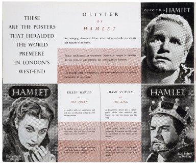 "A J. Arthur Rank Enterprise. Laurence Olivier presents ""Hamlet"" by William Shakespeare."