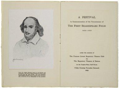 Shakespeare Festival and Ball [program]