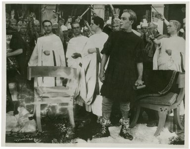 A scene from Julius Caesar directed by Enrico Guazzoni.