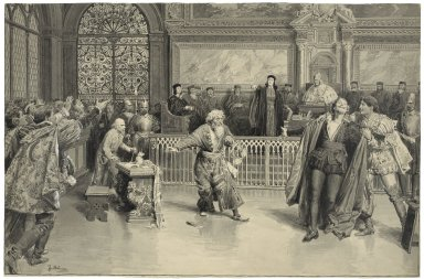 Scene from the Merchant of Venice