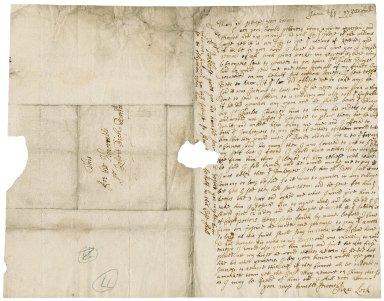 Letter from Elizabeth Lock, widow, Yoxford, Suffolk, to Sir Robert Rich