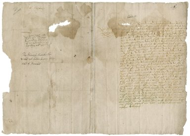 Elizabeth I, queen of England. Letter signed. To Thomas Cawarden.