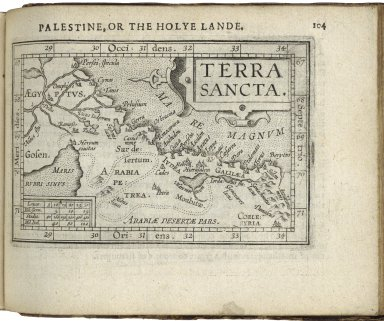 [Theatrum orbis terrarum. English. Abridgement] Abraham Ortelius his epitome of the Theater of the worlde nowe latlye, since the Latine Italian, Spanishe, and Frenche editions, renewed and augmented, the mappes all newe grauen according to geographicall measure. By Micheal Coignet. mathematition of Antwarpe beeinge more exactlye set forth. and amplefyed with larger descriptions, then any done heere to fore·