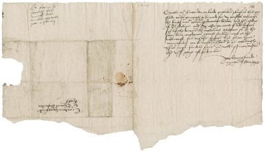 Stanhope, Sir Michael. Letter signed. To Sir Thomas Cawarden. Westminster.