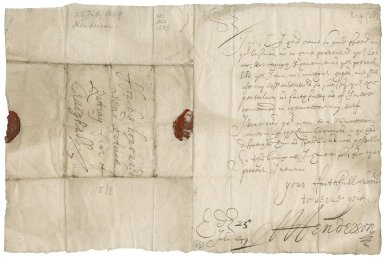 Letter from A. Henderson to Patrick Rattray of Craighall, Edinburgh