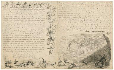 "Autograph letters signed from ""Dick"" [i.e. Richard Doyle] to John Doyle [manuscript], 1842-1843."