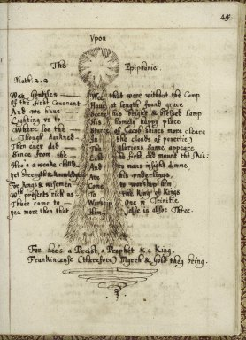 Commonplace book of Matthew Day [manuscript], ca. 1650.