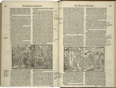 [Chronicles of England, Scotlande, and Irelande] The firste volume of the Chronicles of England, Scotlande, and Irelande. Conteyning, the description and chronicles of England, from the first inhabiting vnto the conquest. The description and chronicles of Scotland, from the first originall of the Scottes nation, till the yeare of our Lorde. 1571. The description and chronicles of Yrelande, likewise from the firste originall of that nation, vntill the yeare. 1547. Faithfully gathered and set forth, by Raphaell Holinshed.