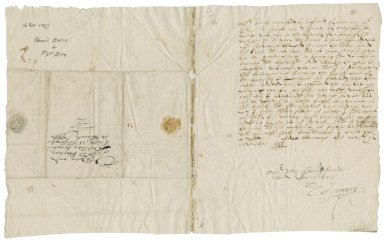 Moore, Edward. Letter. To Sir William More. Stanway.
