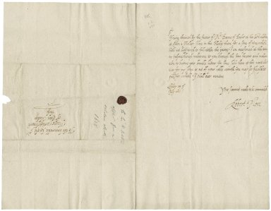 More, Sir Robert. Letter. To Sir Henry Wotton, provost of Eton.