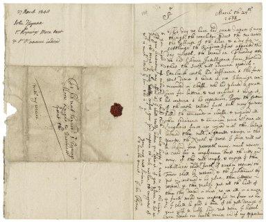 Thynne, John. Letter. To Sir Poynings More.